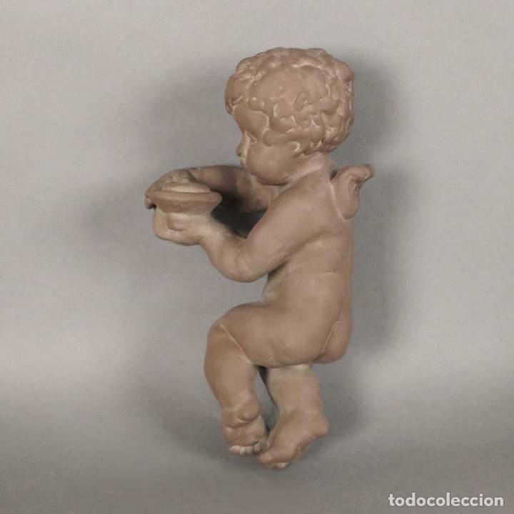 ANGEL DE CERÁMICA DE PARED DE LA KARLSRUHER MAJOLIKA. ALEMANIA 1930 - 1940 (Antigüedades - Porcelana y Cerámica - Alemana - Meissen)