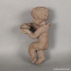 Antigüedades: ANGEL DE CERÁMICA DE PARED DE LA KARLSRUHER MAJOLIKA. ALEMANIA 1930 - 1940. Lote 168388420