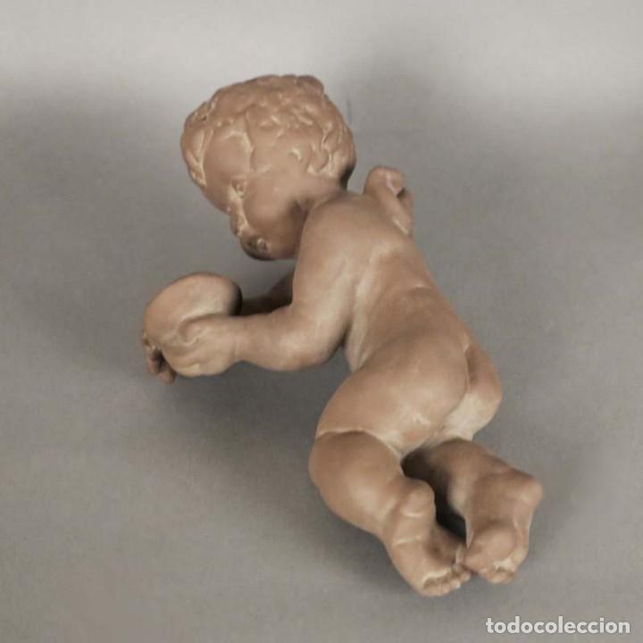 Antigüedades: Angel de cerámica de pared de la Karlsruher Majolika. Alemania 1930 - 1940 - Foto 3 - 168388420