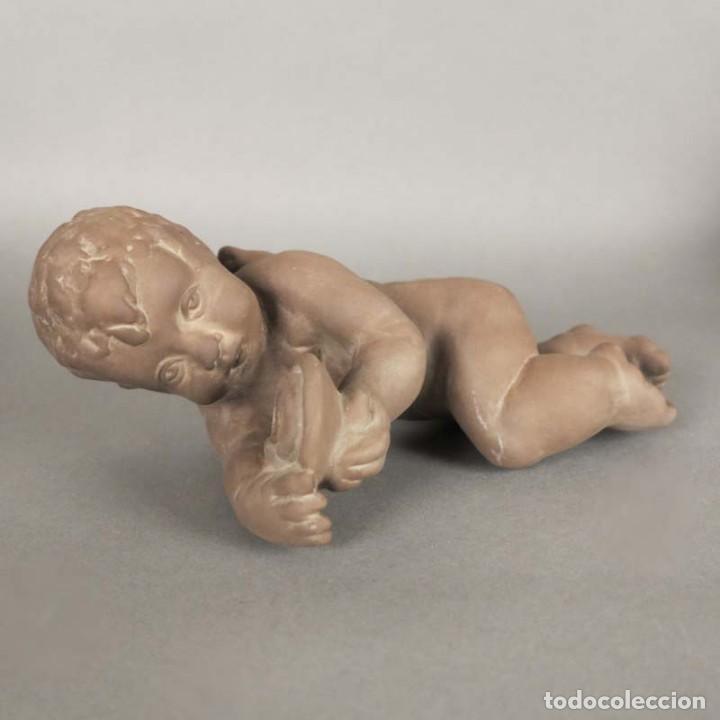 Antigüedades: Angel de cerámica de pared de la Karlsruher Majolika. Alemania 1930 - 1940 - Foto 5 - 168388420