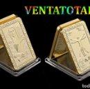 Antigüedades: EDICION LIMITADA LINGOTE ORO DE 24 KILATES 36 GR ( LEONARDO DA VINCI - LA MONA LISA ) Nº7. Lote 168391005