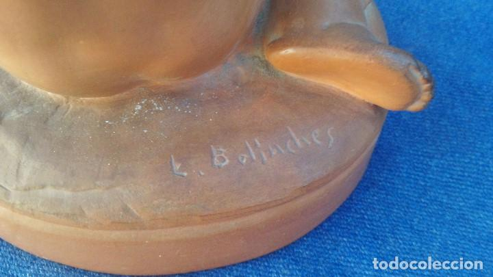 Antigüedades: fugura en terracota firmada bolinches,luis bolinches - Foto 2 - 168418060