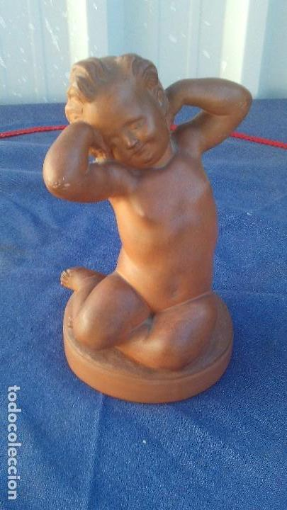 FUGURA EN TERRACOTA FIRMADA BOLINCHES,LUIS BOLINCHES (Antigüedades - Porcelanas y Cerámicas - Manises)