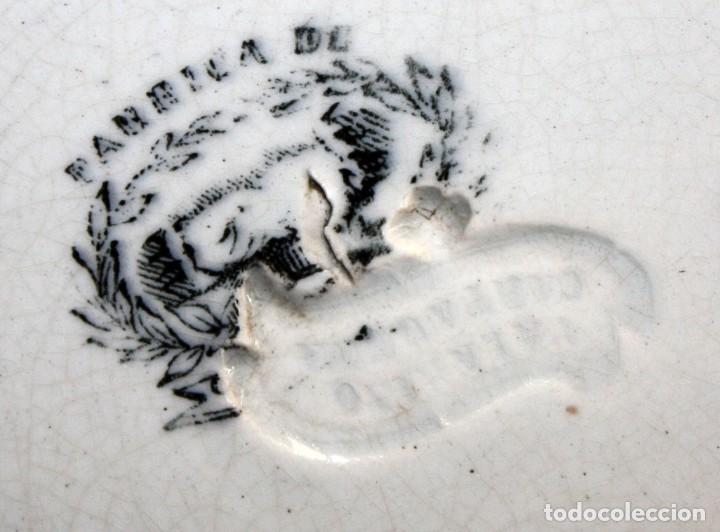 Antigüedades: LOTE DE 4 PLATOS EN CERÁMICA DE LA FABRICA LA AMISTAD DE CARTAGENA - Foto 6 - 168425588