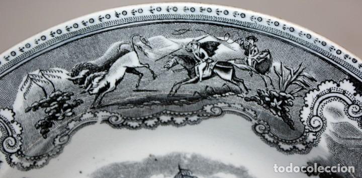 Antigüedades: LOTE DE 4 PLATOS EN CERÁMICA DE LA FABRICA LA AMISTAD DE CARTAGENA - Foto 4 - 168425588