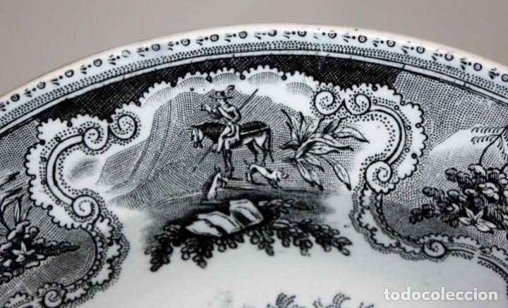 Antigüedades: LOTE DE 4 PLATOS EN CERÁMICA DE LA FABRICA LA AMISTAD DE CARTAGENA - Foto 5 - 168425588