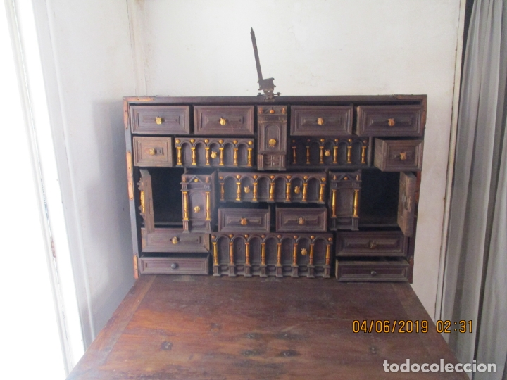 Antigüedades: bargueño castellano siglo XVIII - Foto 12 - 168431668