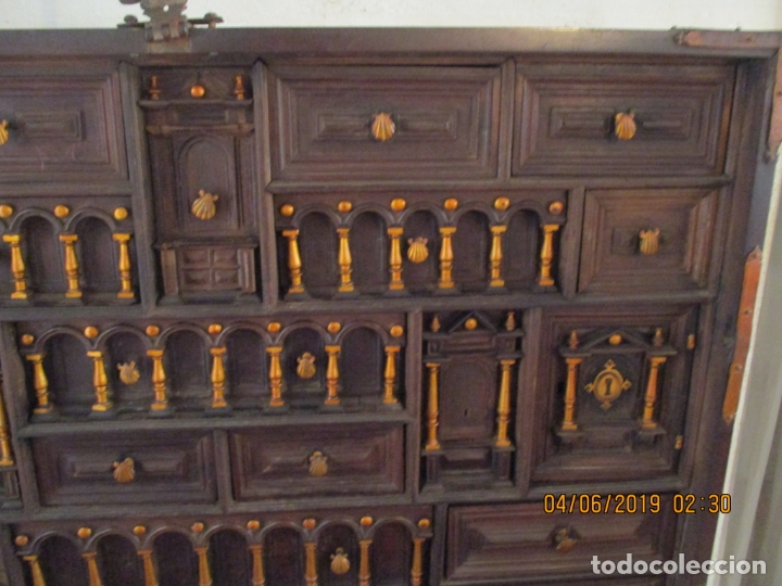 Antigüedades: bargueño castellano siglo XVIII - Foto 14 - 168431668
