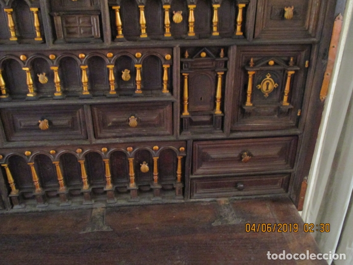 Antigüedades: bargueño castellano siglo XVIII - Foto 15 - 168431668