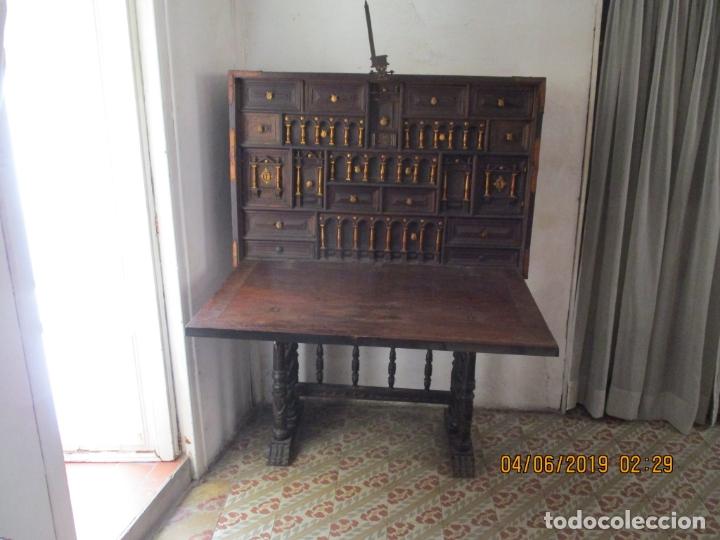 Antigüedades: bargueño castellano siglo XVIII - Foto 19 - 168431668