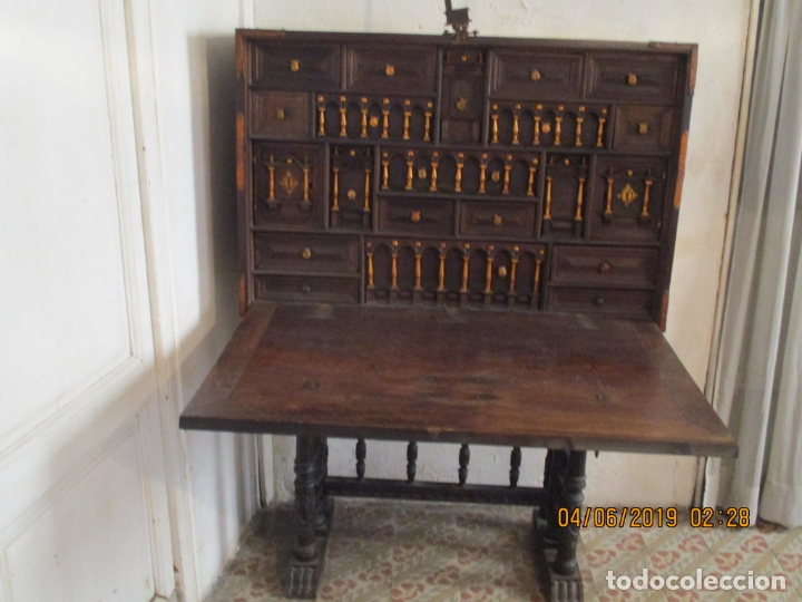 BARGUEÑO CASTELLANO SIGLO XVIII (Antigüedades - Muebles Antiguos - Bargueños Antiguos)