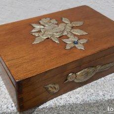 Antigüedades: ANTIGÜA CAJA JOYERO DE MADERA. Lote 168460184