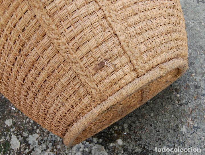 Antigüedades: CESTA ESPUERTA CAPACHO DE ESPARTO PLAITA - Foto 2 - 168481460
