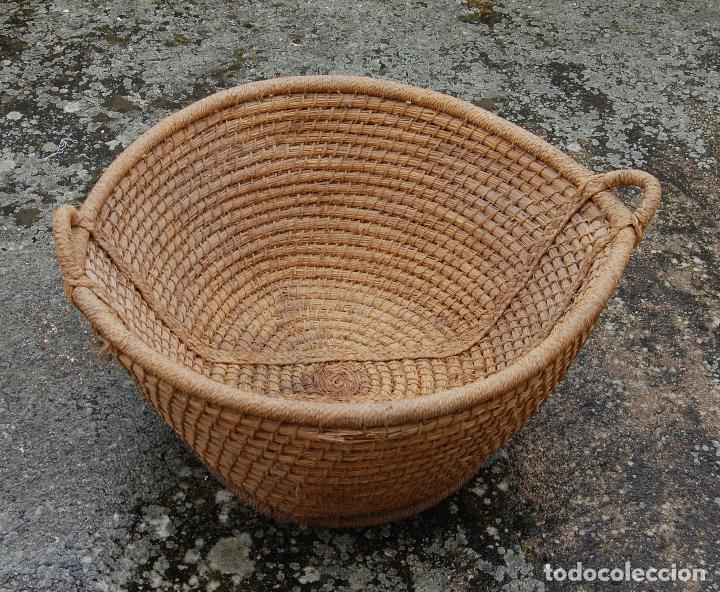 Antigüedades: CESTA ESPUERTA CAPACHO DE ESPARTO PLAITA - Foto 3 - 168481460