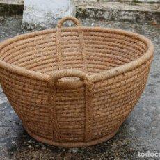 Antigüedades: CESTA ESPUERTA CAPACHO DE ESPARTO PLAITA. Lote 168481460