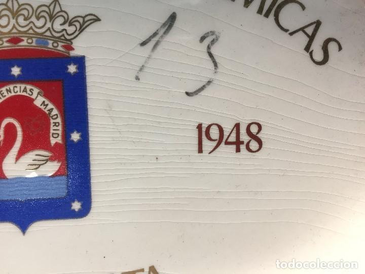 Antigüedades: BANDEJA TARJETERO CERAMICA SAN CLAUDIO OVIEDO PROMOCION CIENCIAS QUIMICAS 1943 1948 MADRID - Foto 5 - 168486636