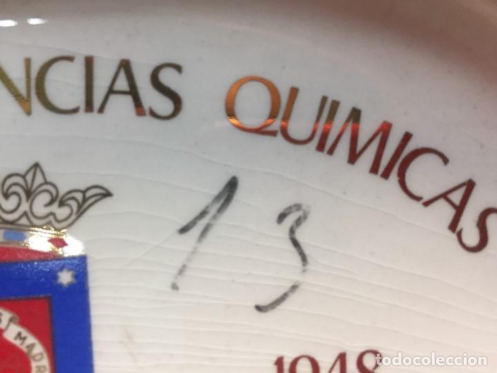 Antigüedades: BANDEJA TARJETERO CERAMICA SAN CLAUDIO OVIEDO PROMOCION CIENCIAS QUIMICAS 1943 1948 MADRID - Foto 6 - 168486636