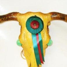 Antigüedades: GRAN LAMPARA ANTIGUA CABEZA TORO BRAVO GANADERIA MIURA . Lote 168506400