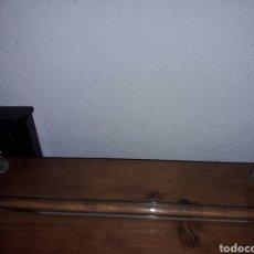 Antigüedades: ANTIGUO TOALLERO DE METAL Y CRISTAL. Lote 168507593