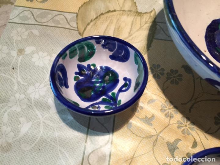 Antigüedades: Antiguo cuenco / cuencos de porcelana de Talavera de la Reina con dibujo de magrana en azul cobalto - Foto 2 - 168517528