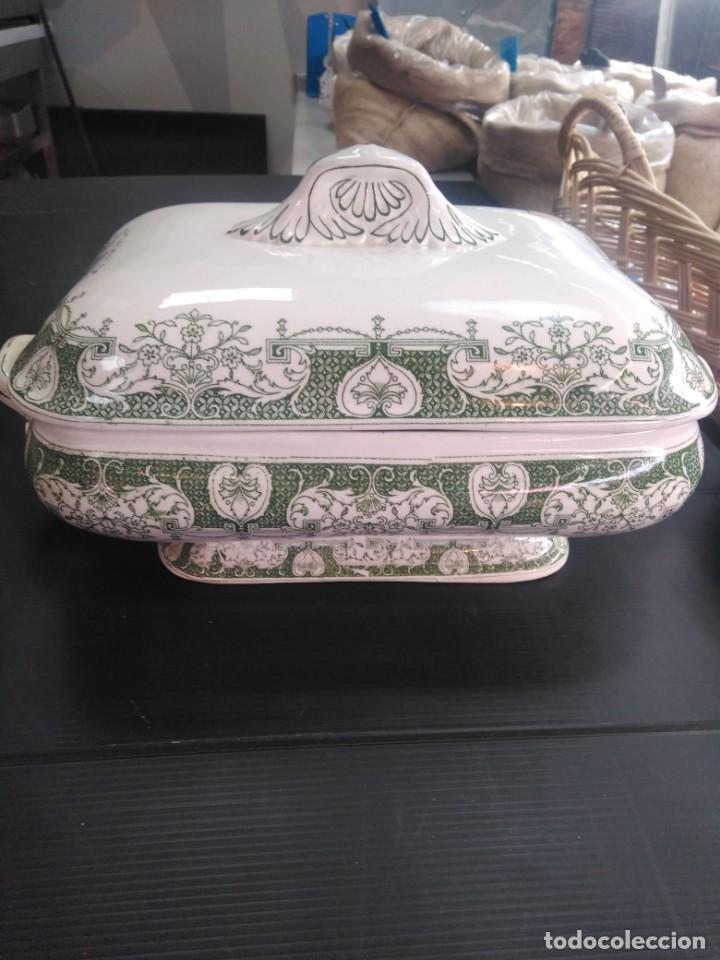 SOPERA SIGLO XIX, LOZA LA SEVILLANA, RAMOS REJANO (Antigüedades - Porcelanas y Cerámicas - Otras)