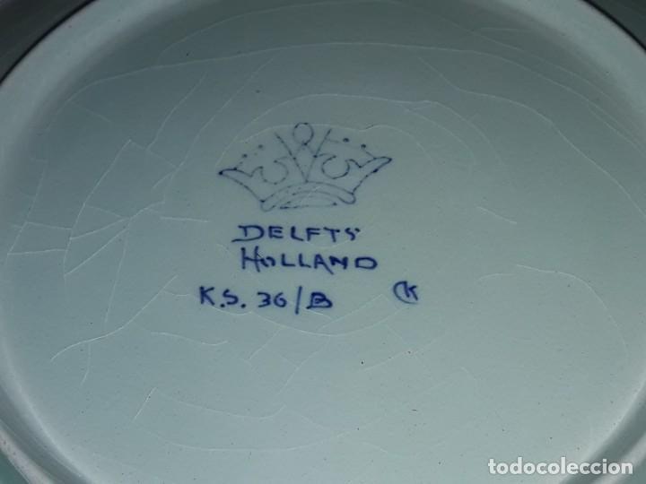 Antigüedades: Bella antigua bandeja porcelana Holandesa Delft - Foto 5 - 168523652