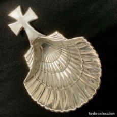 Antigüedades: CONCHA BAUTISMO BAUTISMAL PLATA LEY 925 27 GRMS. Lote 168539848