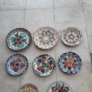 Antigüedades: LOTE DE PLATOS DE PORCELANA ESPAÑOLA PINTADOS A MANO.. Lote 168552124