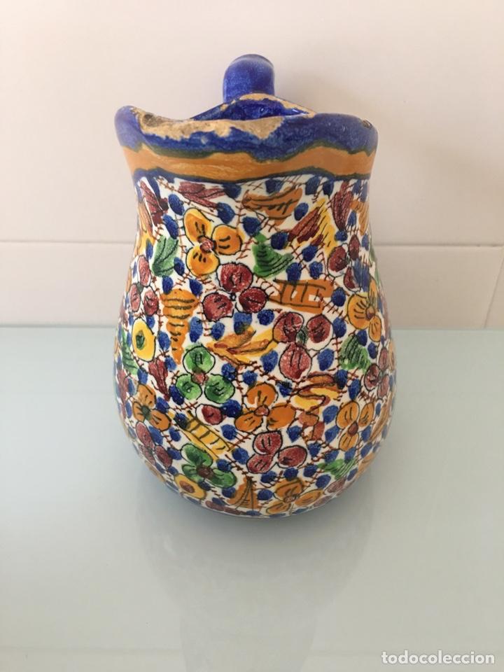 Antigüedades: Antigua jarra de cerámica de Manises firmada VG Vicente Gimeno - Foto 2 - 168553338