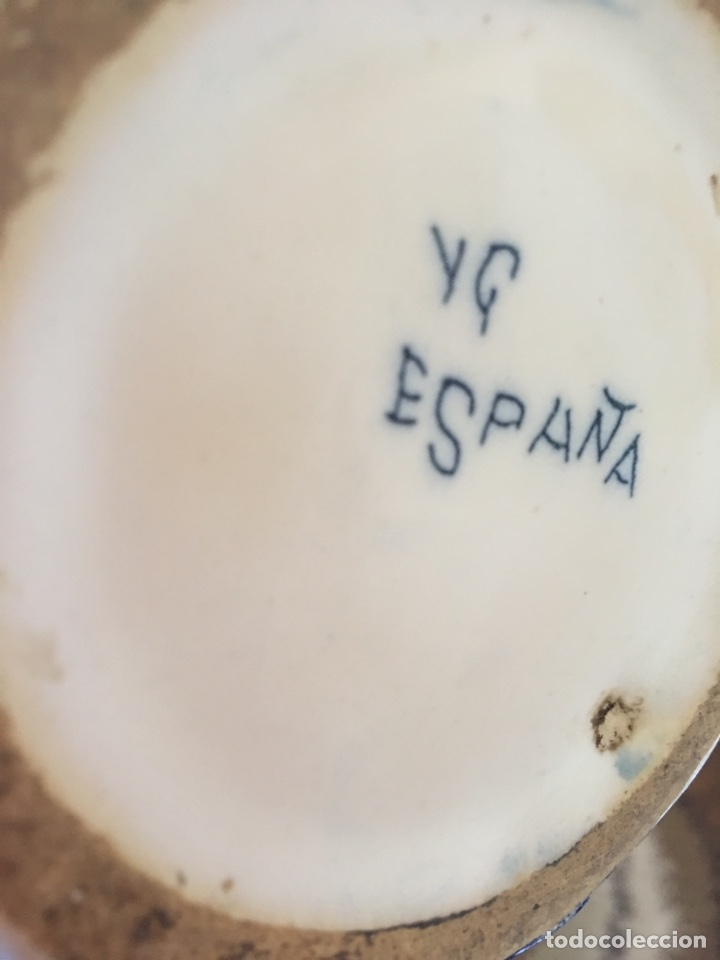 Antigüedades: Antigua jarra de cerámica de Manises firmada VG Vicente Gimeno - Foto 5 - 168553338