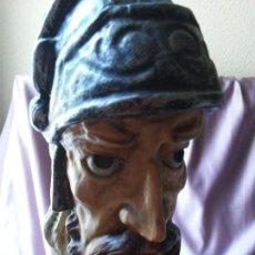 Antigüedades: TALLA DON QUIJOTE EN MADERA POLICROMADA. Lote 168583376
