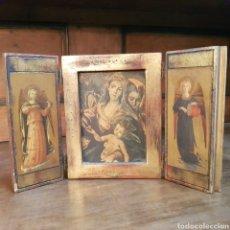 Antigüedades: PRECIOSO ICONO TRIPTICO RELIGIOSO. Lote 168597756
