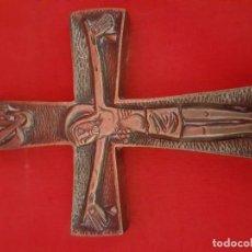 Antigüedades: CRUCIFIJO EN BRONCE. PARA COLGAR. . Lote 168598300