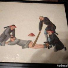 Antigüedades: ANTIGUAS PINTURAS CHINAS DE TORTURAS. Lote 168604612