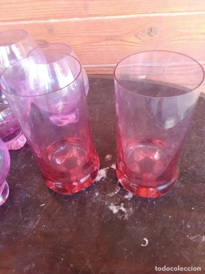 Antigüedades: Lote de 11 Piezas Cristal Rosa. - Foto 2 - 168608296