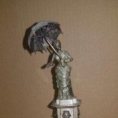 Antigüedades: DAMA DEL PARAGUAS DE BARCELONA PARAIGUA EN PLATA DE LEY. Lote 168610264
