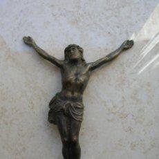 Antigüedades: ANTIGUO CRISTO DE BRONCE. SIGLO XIX. TAMAÑO: 11 CTMS.. Lote 168618184