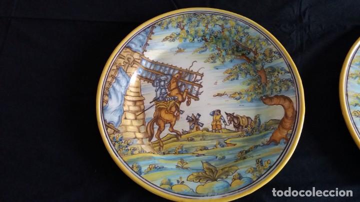 Antigüedades: Preciosos platos antiguos de cerámica de Talavera. Ruiz de Luna - Foto 2 - 168621556