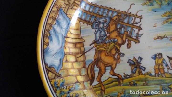 Antigüedades: Preciosos platos antiguos de cerámica de Talavera. Ruiz de Luna - Foto 3 - 168621556