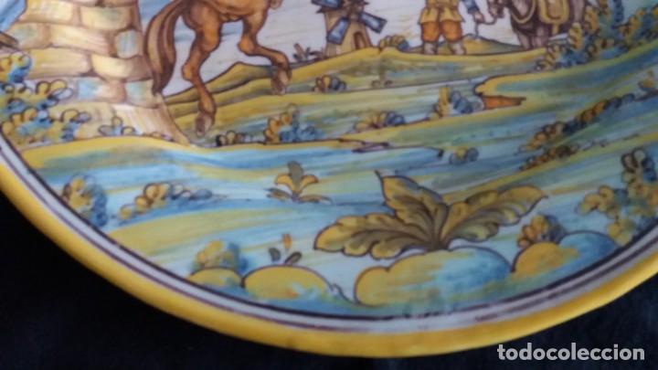 Antigüedades: Preciosos platos antiguos de cerámica de Talavera. Ruiz de Luna - Foto 4 - 168621556