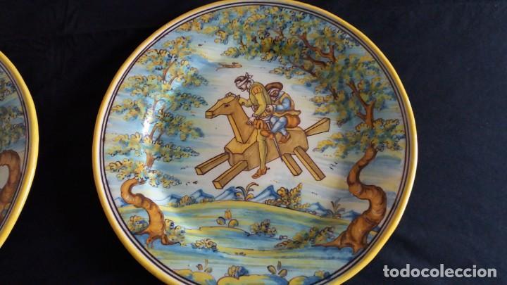 Antigüedades: Preciosos platos antiguos de cerámica de Talavera. Ruiz de Luna - Foto 5 - 168621556