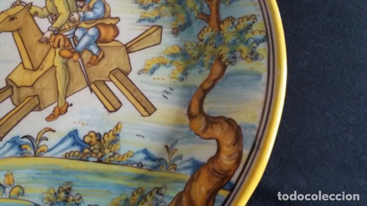 Antigüedades: Preciosos platos antiguos de cerámica de Talavera. Ruiz de Luna - Foto 7 - 168621556
