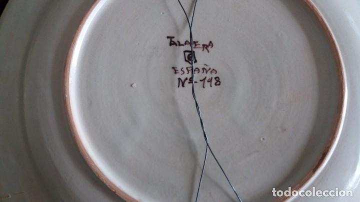 Antigüedades: Preciosos platos antiguos de cerámica de Talavera. Ruiz de Luna - Foto 8 - 168621556