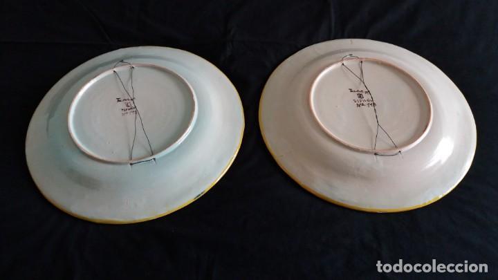Antigüedades: Preciosos platos antiguos de cerámica de Talavera. Ruiz de Luna - Foto 11 - 168621556