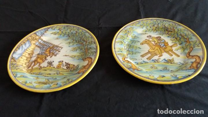 Antigüedades: Preciosos platos antiguos de cerámica de Talavera. Ruiz de Luna - Foto 13 - 168621556