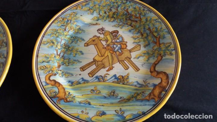 Antigüedades: Preciosos platos antiguos de cerámica de Talavera. Ruiz de Luna - Foto 14 - 168621556