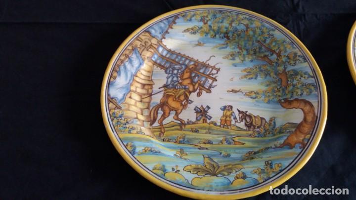 Antigüedades: Preciosos platos antiguos de cerámica de Talavera. Ruiz de Luna - Foto 15 - 168621556
