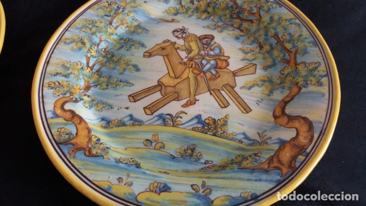 Antigüedades: Preciosos platos antiguos de cerámica de Talavera. Ruiz de Luna - Foto 16 - 168621556