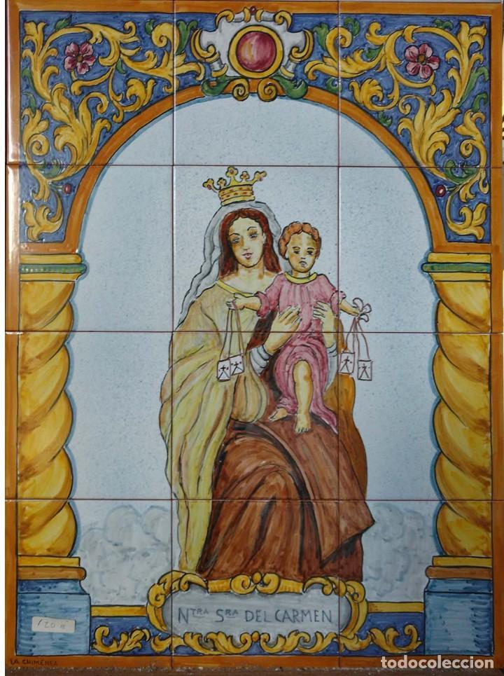 VIRGEN DEL CARMEN 2 (Antigüedades - Porcelanas y Cerámicas - Azulejos)