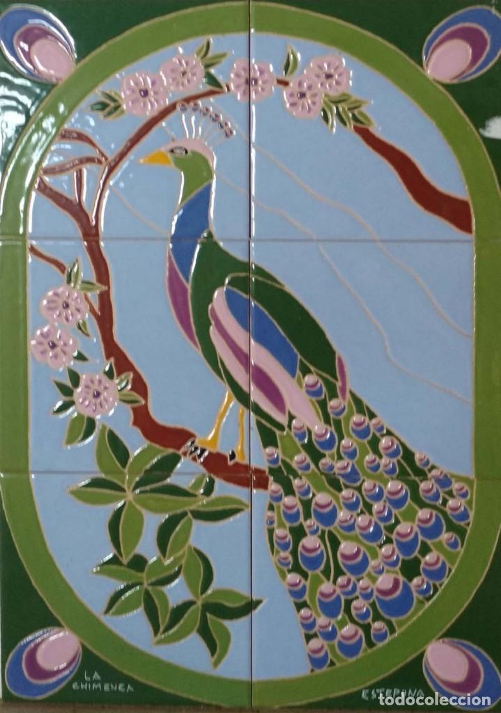 PAVO REAL (Antigüedades - Porcelanas y Cerámicas - Azulejos)